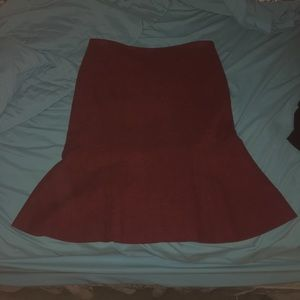 cute long red skirt